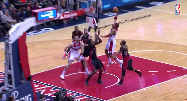37 year old Paul Pierce is still dunking with authority