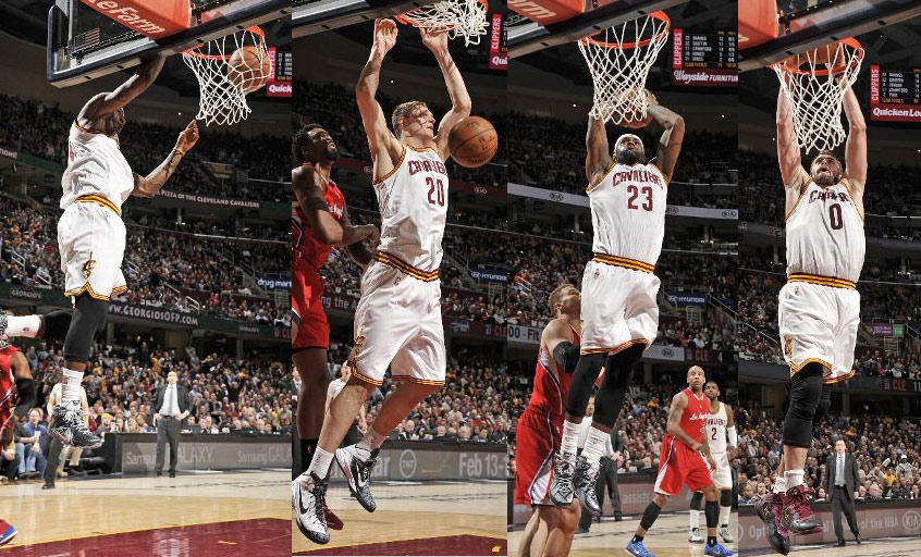 LeBron & the Cavs had a dunk fest against the Clippers, win 12th straight