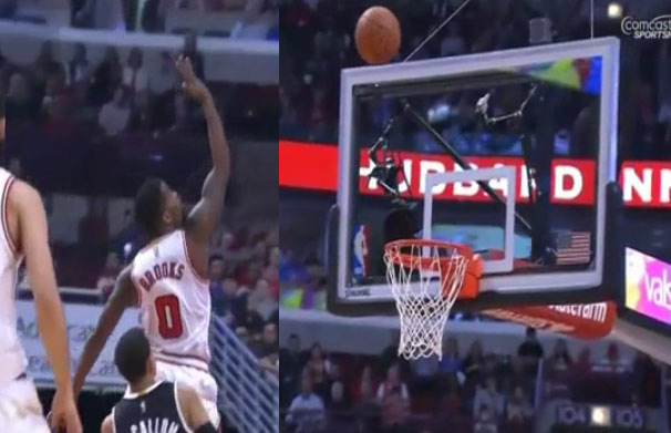 Aaron Brooks Was Just A Little Off On This Airball Layup Attempt
