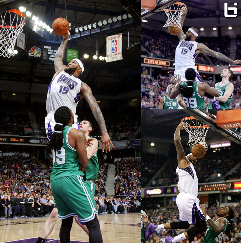 DeMarcus Cousins Goes Coast-To-Coast Then Posterizes Jae Crowder