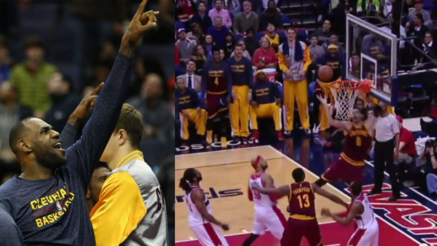 Kevin Love Misses a Wide Open Dunk vs the Wizards