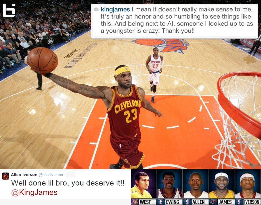 LeBron James Passes Childhood Idol Allen Iverson on All-Time Scoring List, Iverson says congrats