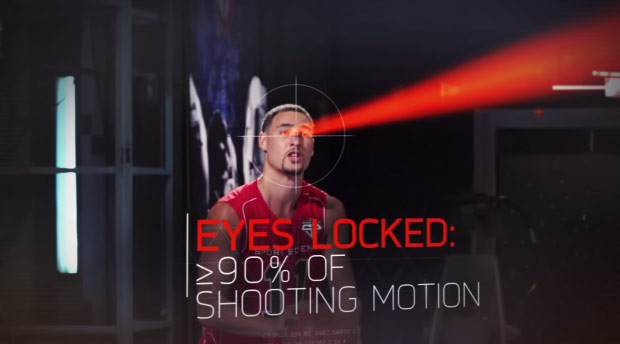 Klay Thompson makes 8 out of 10 3-pointers in the dark!