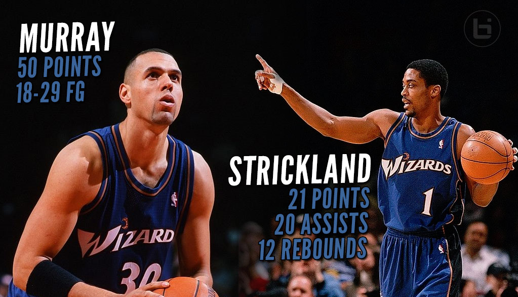 (1998) Tracy Murray Drops 50 & Strickland A 20/20 Triple-Double On The Warriors