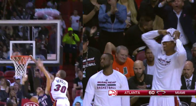 Michael Beasley posterizes Mike Muscala in home debut