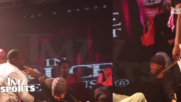 Steve Francis Gets Dragged To The Ground & His Chain Snatched at Houston Rap Concert