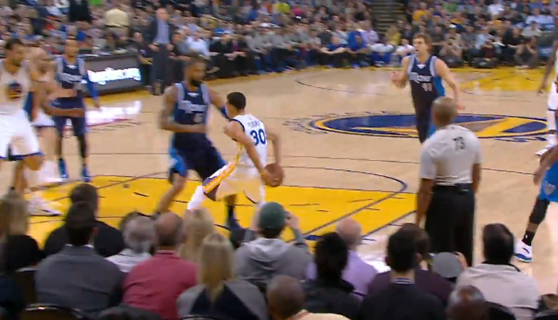 Pass of the Night: Chef Curry With The Behind-The-Back Fake then Dish to Harrison Barnes for 3