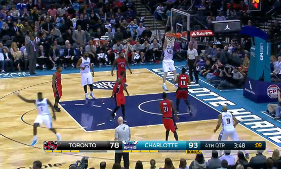 Lance Stephenson Running & Celebrating Down The Court After A No-Look Pass To Zeller For The Dunk