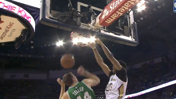 Anthony Davis Throws the Oop Down on Tyler Zeller   YouTube