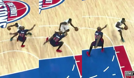Lance Stephenson's crossover on Anthony Tolliver made him do the Carlton dance