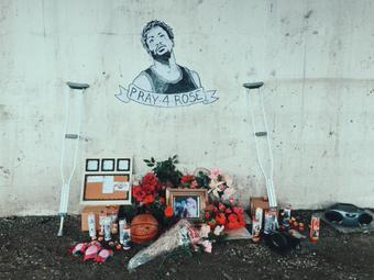 Bulls Fans Hold A Vigil For Derrick Rose