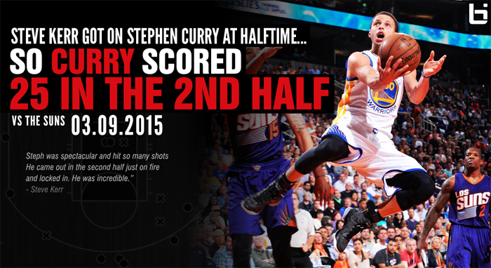 Stephen Curry scores 25 of his 36 points in the 2nd half vs the Suns, Warriors win 50th game