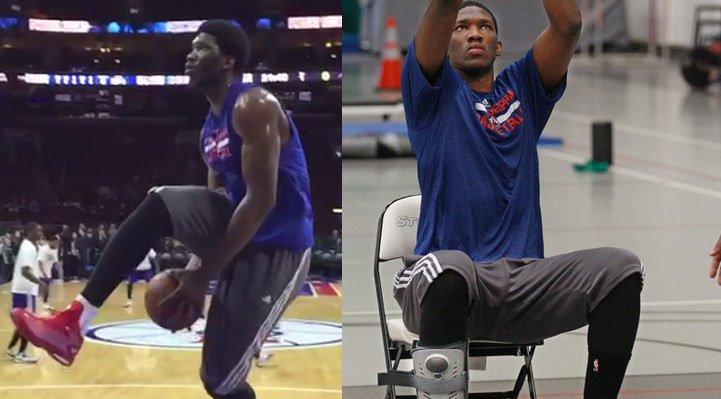 4 Days After Doing A Between the Legs Dunk, Joel Embiid is Back In a Walking Boot