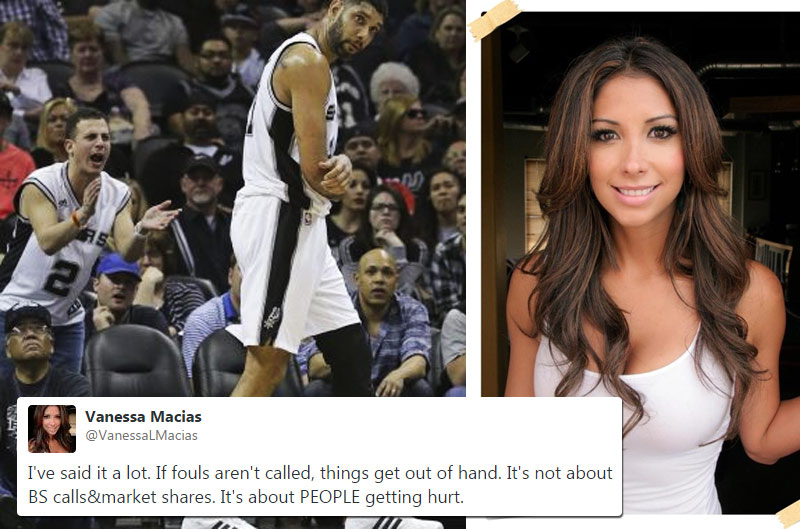 Tim Duncan's Girlfriend Is Pretty Pissed About A No-Call Which Injured Duncan