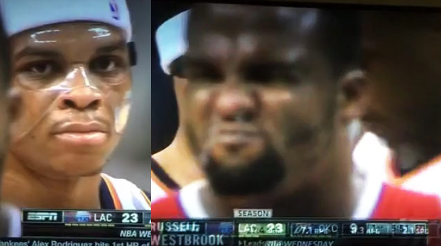 """Glen """"Big Baby"""" Davis' videobomb on Westbrook is the Grossest Thing You Will See Today"""