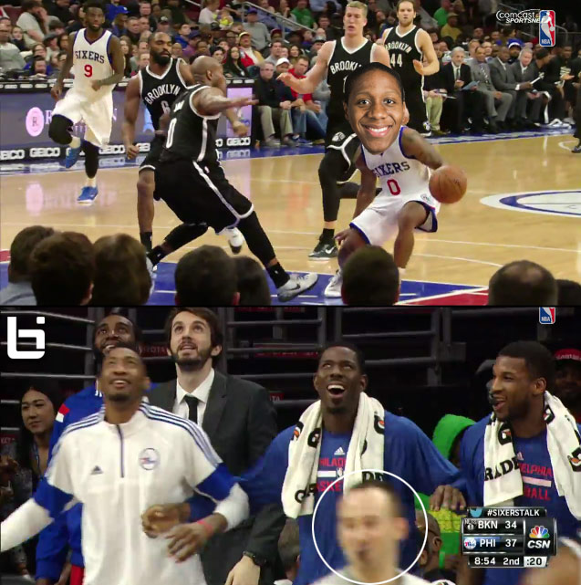Isaiah Canaan's sick move on Jarret Jack even made the ref smile
