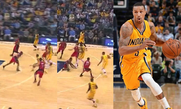 George Hill Drops Lou Williams With The Crossover