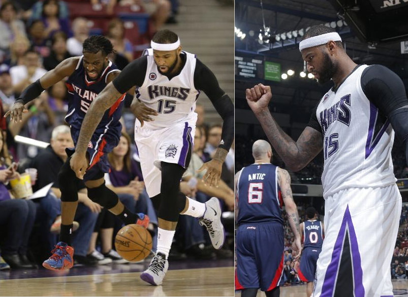 DeMarcus Cousins Embarrasses Pero Antic and Mike Muscala With This Move & Dunk