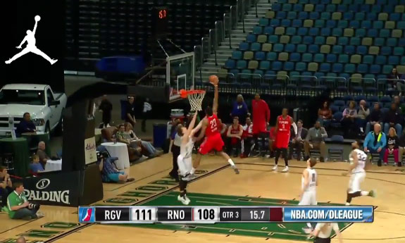 Tony Bishop Does The Jumpman Logo on George Karl's Son Coby