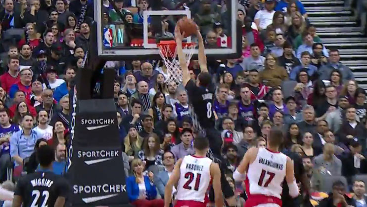 Zach LaVine Crosses Terrence Ross Then Throws Down a Double Clutch Dunk