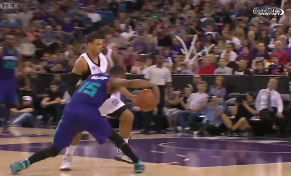 Kemba Walker With The Sick Step-Back 3-Pointer
