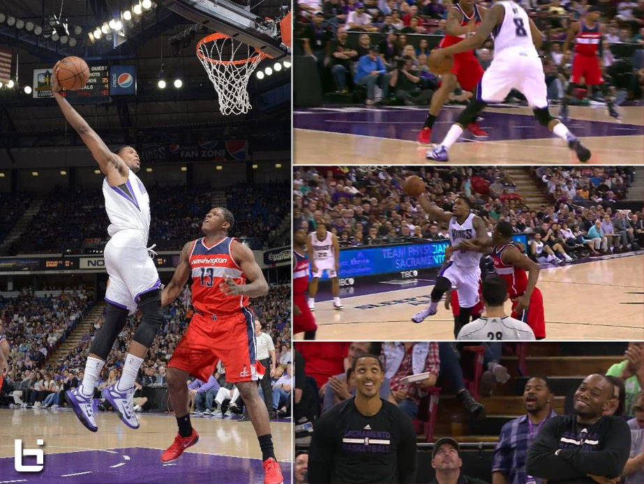 Rudy Gay Crossover Then And1 Dunk on Kevin Seraphin