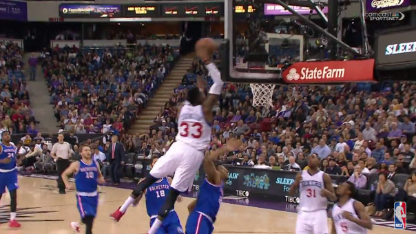 24 Year Old Robert Covington Disrespects His Elders By Dunking on 39 Year Old Andre Miller