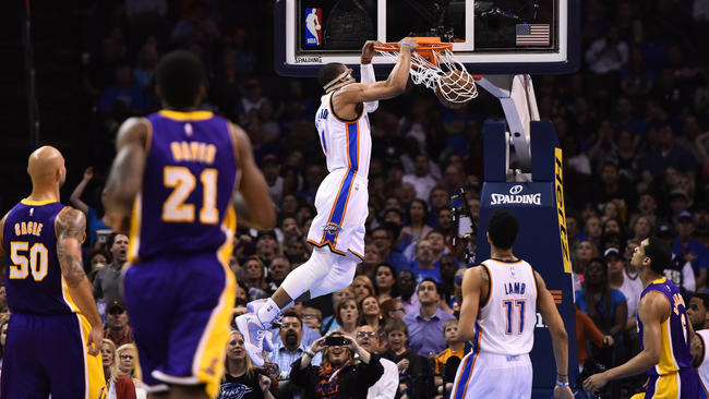 Russell Westbrook Didn't Get a Triple Double vs the Lakers But Did Set Another Franchise Record