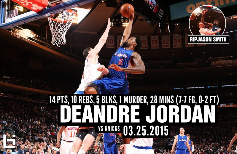 RIP Jason Smith: DeAndre Jordan's Vicious Dunkathon During the Massacre at MSG