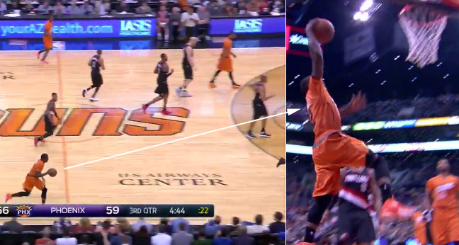 Eric Bledsoe Catches the Blazers Sleeping & Gets the And1 Dunk, Coach Stotts is Pissed!