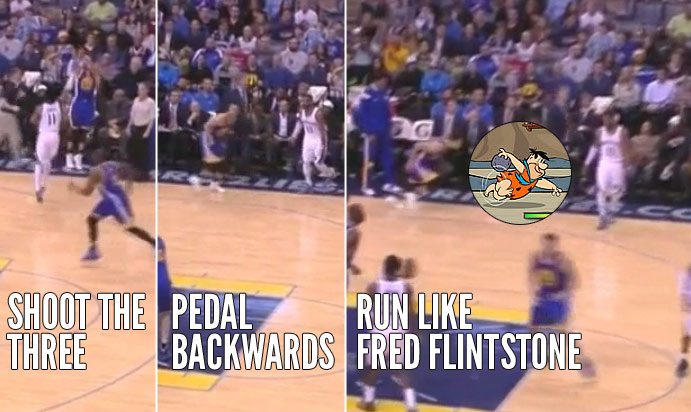 Stephen Curry 38 points, 10 assists, 8 3-pointers & 1 Fred Flintstone Impersonation