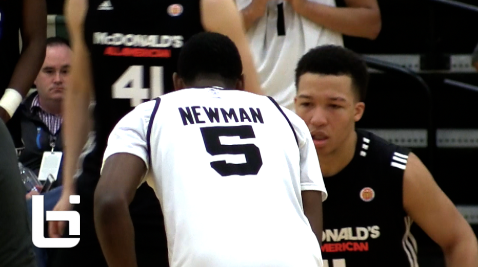 TOP PG's Malik Newman VS Jalen Bruson RAW Footage highlights of McDonald's All American Practice