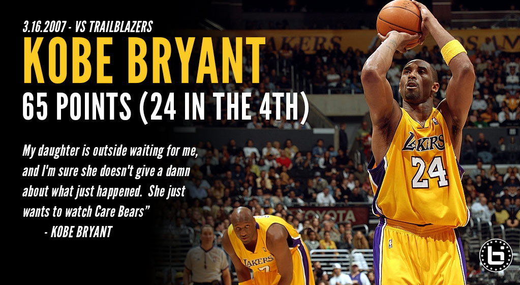 (2007) Kobe Bryant scores 65 in OT win over the Blazers