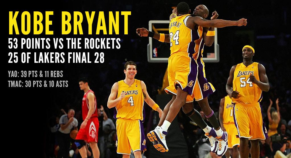 (2007) Kobe Scores 57 Vs T-Mac, Yao & The Rockets