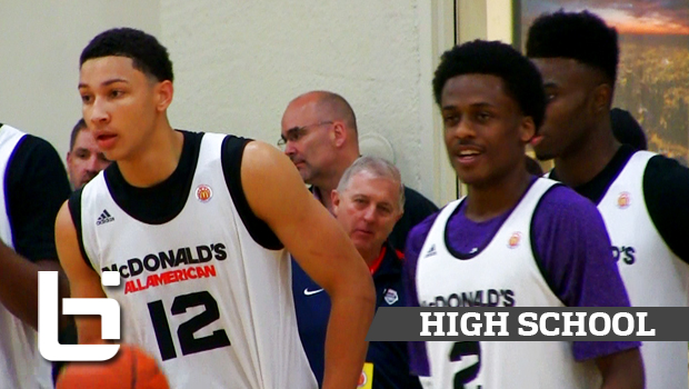 Future LSU Tigers Ben Simmons & Antonio Blakeney Raw Footage McDonald's Practice Highlights