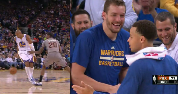 Barbosa's behind-the-back move had Steph Curry showing off his Salsa moves