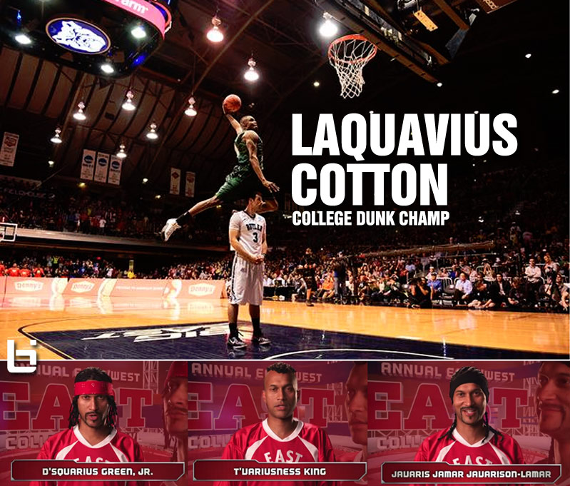 "LaQuavius ""Not From a Key & Peele Sketch"" Cotton Won The College Slam Dunk Contest"