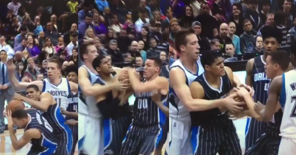 Teammates Tobias Harris & Aaron Gordon Fight Over The Same Rebound