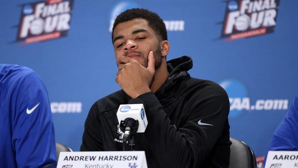 Kentucky's Andrew Harrison apologizes for expletive racial slur about Frank Kaminsky during post game conference
