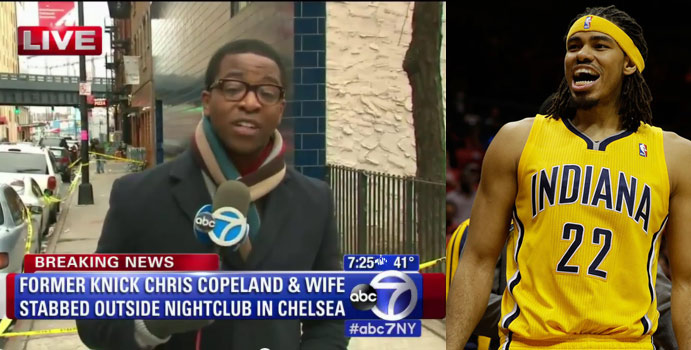 Pacers' Chris Copeland & his wife stabbed outside a club, Hawks Antic & Sefolosha arrested for preventing police from setting up crime scene