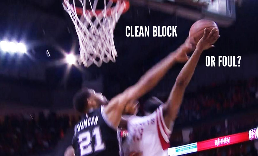 Foul or Clean Block: Tim Duncan Rejects James Harden's Game Winning Layup