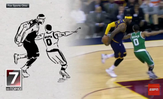 Animated Top 10 Plays of NBA Season (2014/15)