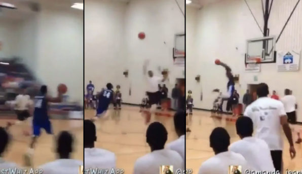 Former Globetrotter Angelo Sharpless Throws Down One of the Best Self Alley-Oops You Will Ever See