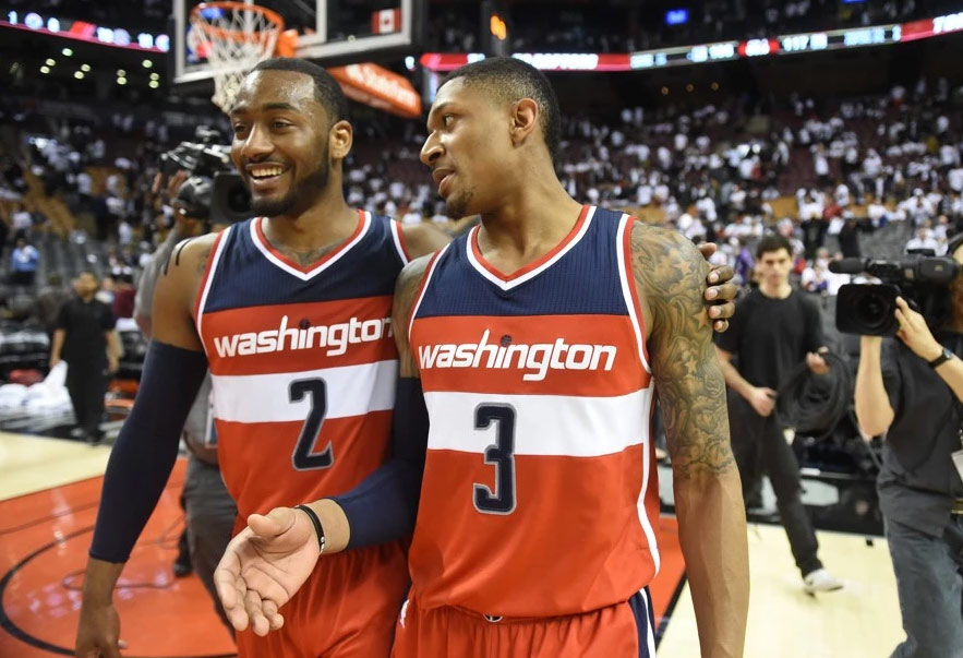 """Bradley Beal Scores 28 in GM2 says Raptors """"think that we're some punks'"""