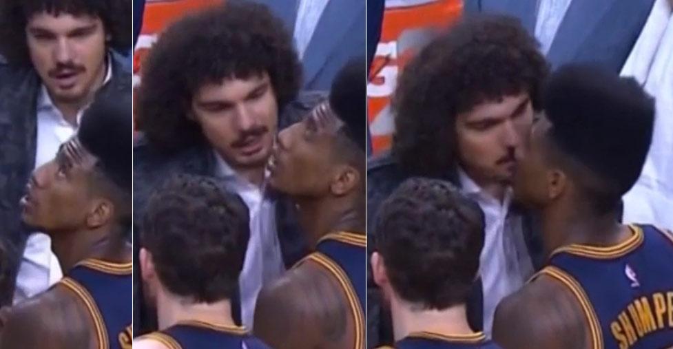 Iman Shumpert & Anderson Varejão Accidentally Shared a Kiss During GM3