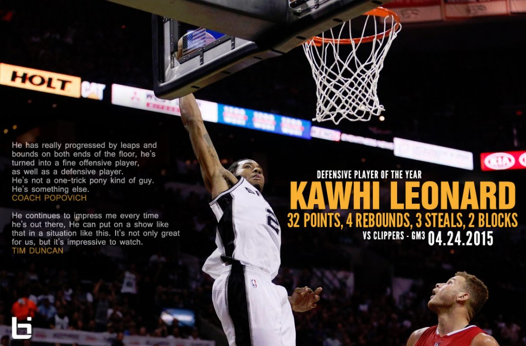 Kawhi Leonard Scores Playoff Career-High 32,  Throws Down Alley-Oop Over Griffin