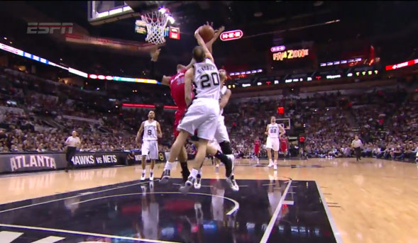 Foul or Clean Block(s): Manu & Duncan Block Blake Griffin
