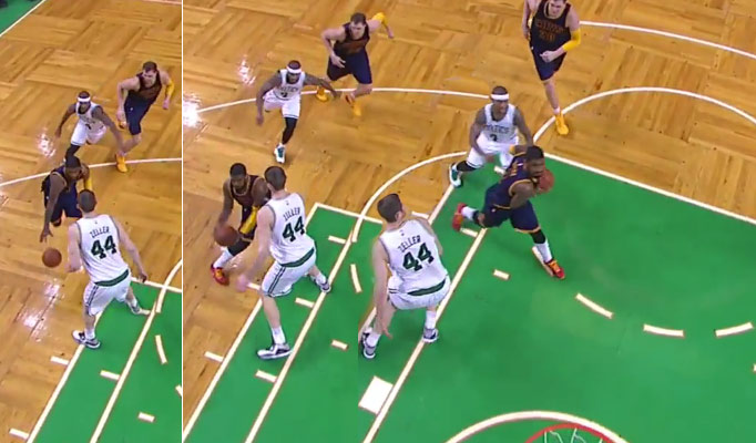 Kyrie Irving Shakes Former Teammate Tyler Zeller With a Nasty Euro-Step Move