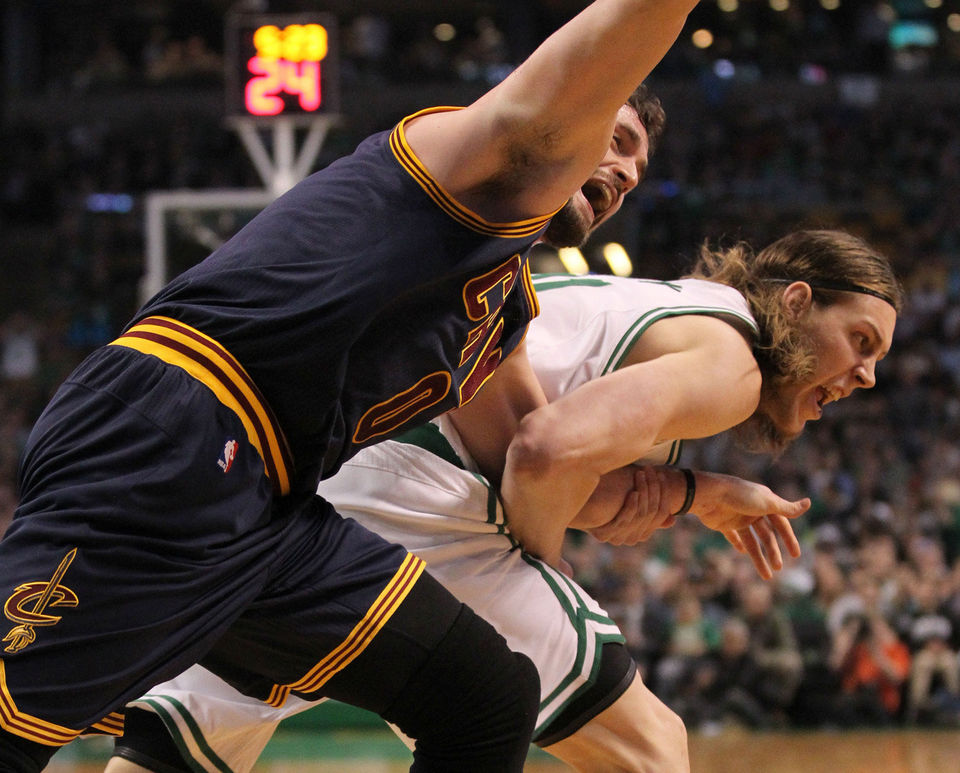Kevin Love Dislocates Shoulders, says it was 'bush-league' play & Olynyk 'did it on purpose'