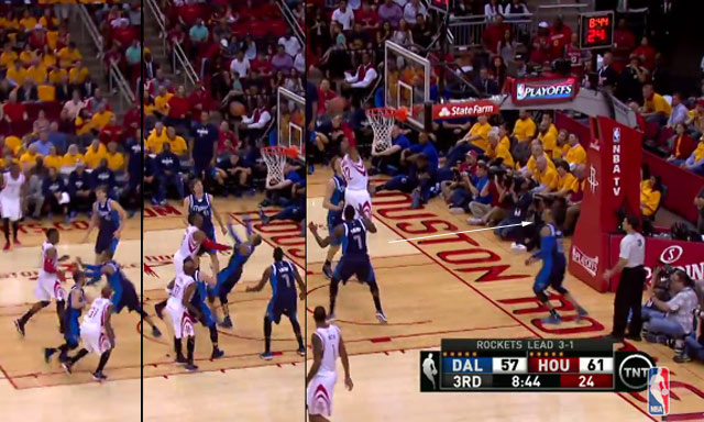 Dwight Howard Pushes Monta Ellis Off The Court Like A Little Kid, Then Throws Down A Putback Dunk